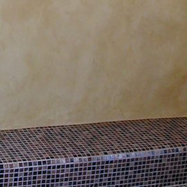 Tadelakt is water resistant, perfect for showers and kitchens!