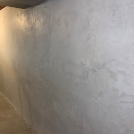 Monolys - Plaster Finish Coat over cinder block in a basement