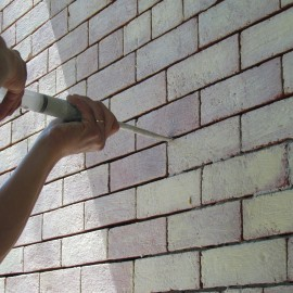 Fine Sand Butter Joint Lime Putty Mortar is a must for these thin joints!